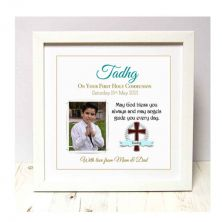 Personalised First Holy Communion Boy Photo Frame