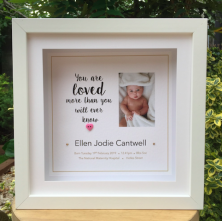 Personalised Newborn Baby Photo Framed Picture