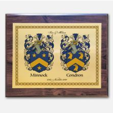 Framed Double Family Crest Metal Plaque