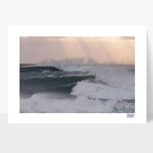 Framed Photograph of the Atlantic Waves in West Clare