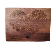 Personalised Wedding First Dance Lyrics Engraved Wooden Plaque