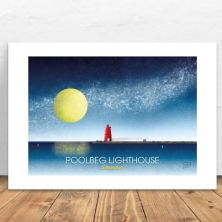 Poolbeg Lighthouse in Dublin A4 Signed Print