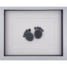 Personalised Newborn Baby Feet Pebble Picture Gift