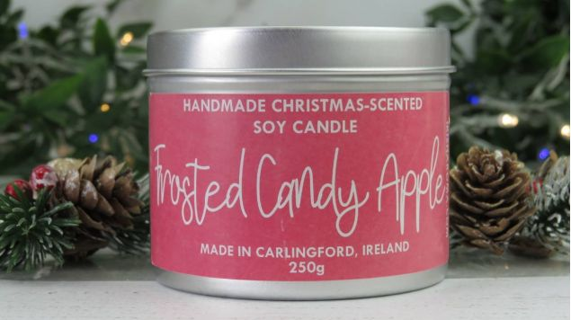 Handmade Frosted Candy Apple Soy Festive Candle