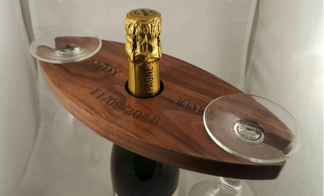 Wine Caddy Wine Butter gift engraved personalised