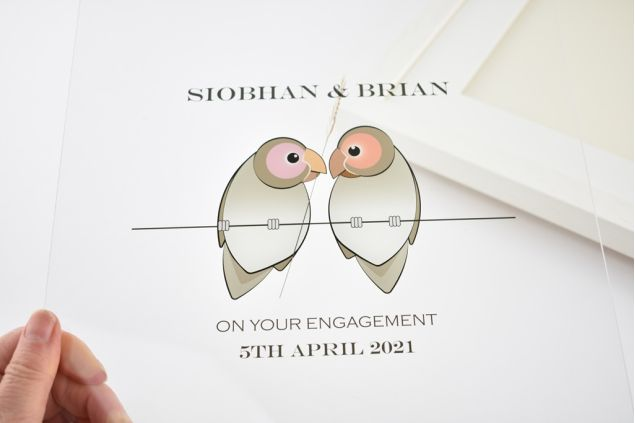 Personalised Love Birds Special Occasion Frame