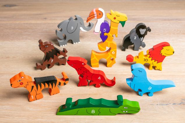 Childrens Educational Zoo Animals with Numbers Jigsaw Puzzle