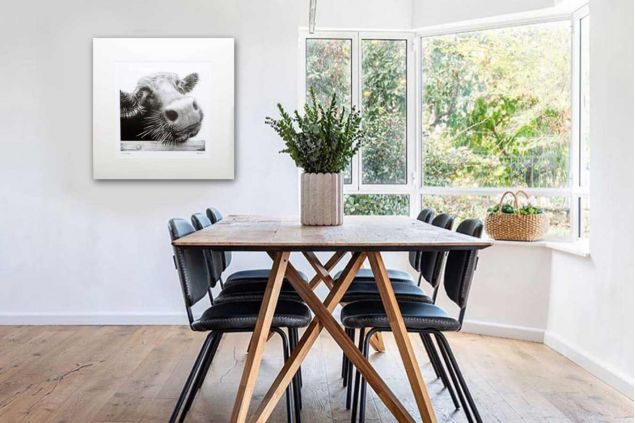 Co Cow Chanel Mounted Limited Edition Fine Art Cow Print