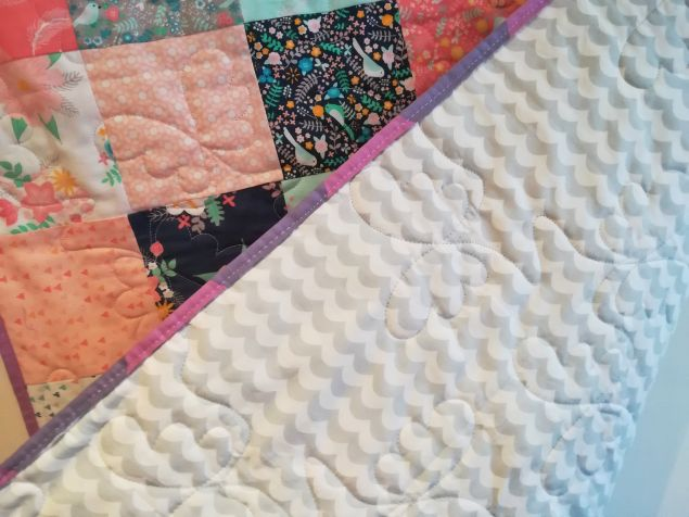 Personalised Floral Patchwork Newborn Baby Quilt