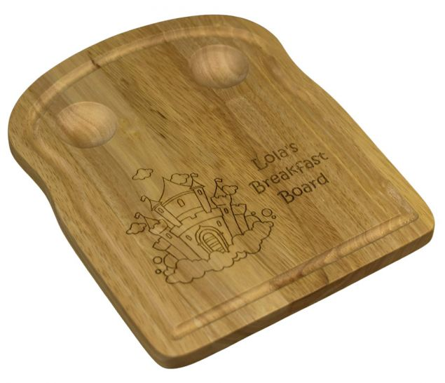 Personalised Breakfast Board Suitable For Toast And Two Eggs
