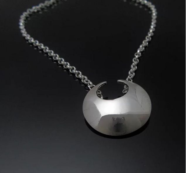 Sterling Silver Handcrafted Lunula Pendant