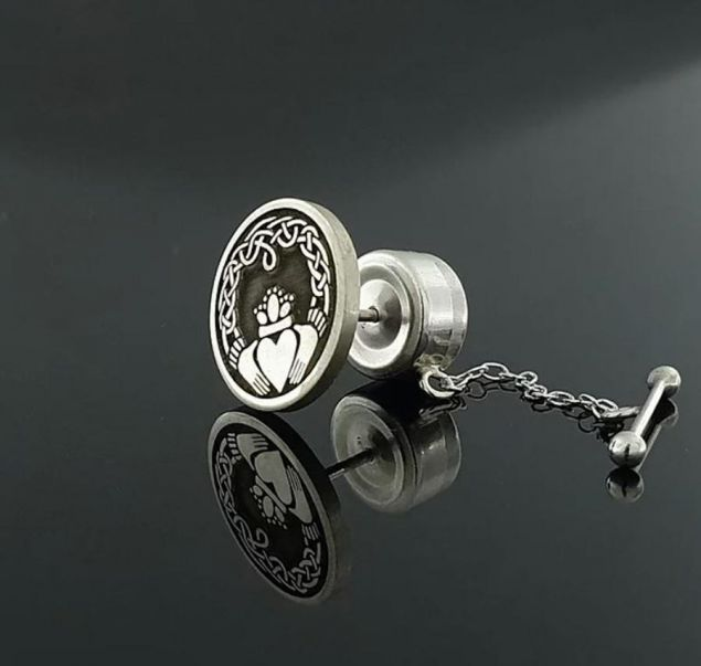 Sterling Silver Claddagh Tie Pin