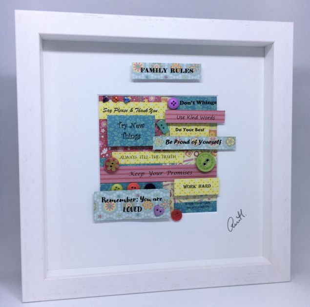 Family Rules Button Frame