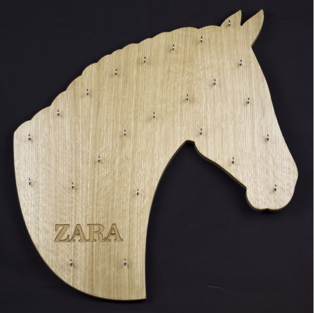 Personalised Wooden Horse Head Medal Board