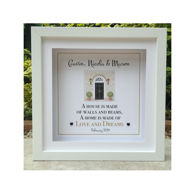 Personalised New Home Front Door Framed Picture