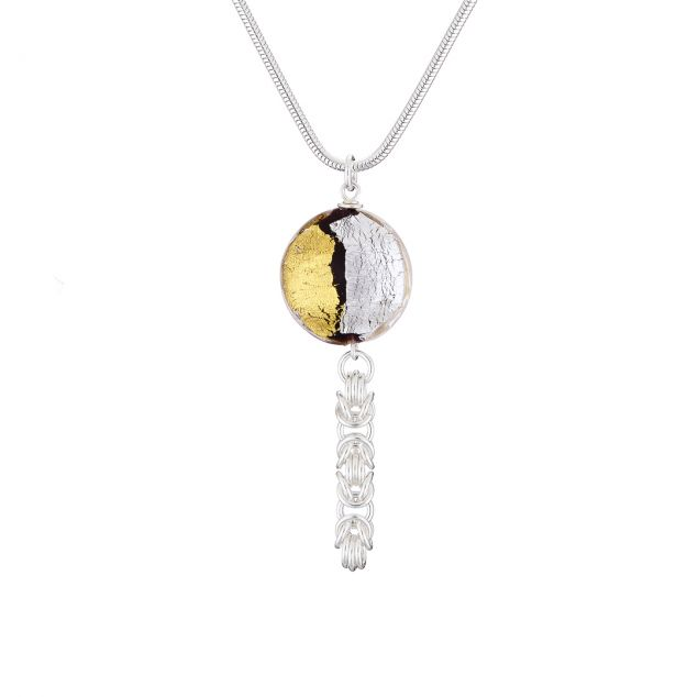 """Sun & Moon"" Sterling Silver Necklace"
