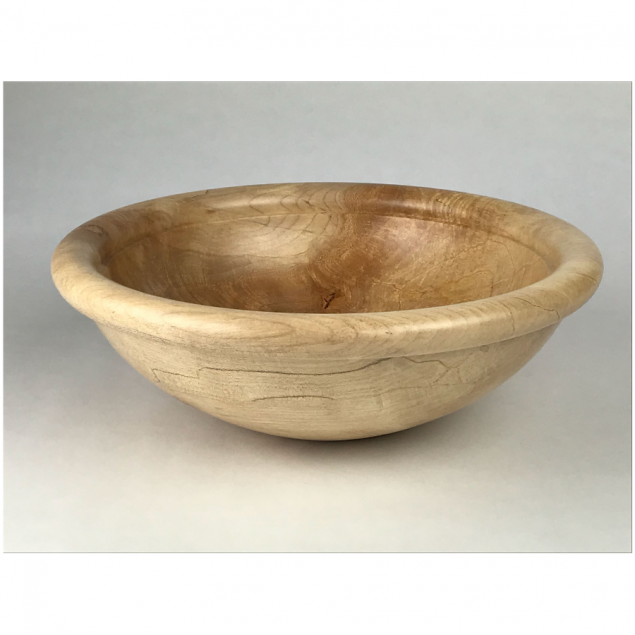 Handcrafted Irish Wooden Sycamore Bowl - Option to Personalise