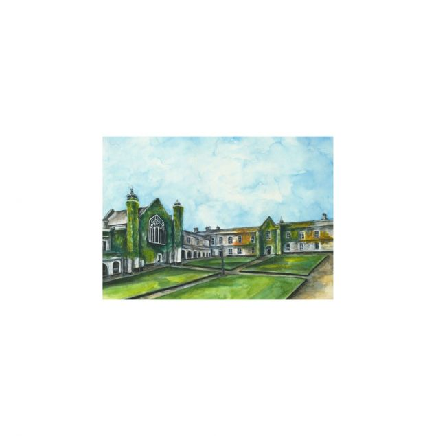 Limited Edition Fine Art Print of the Aula Maxima in NUIG in Galway