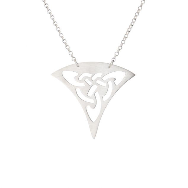 """""""Celtic Triangle"""" Sterling Silver Necklace"""