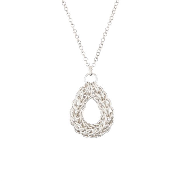 """Circle of Life"" Sterling Silver Chainmail Necklace"