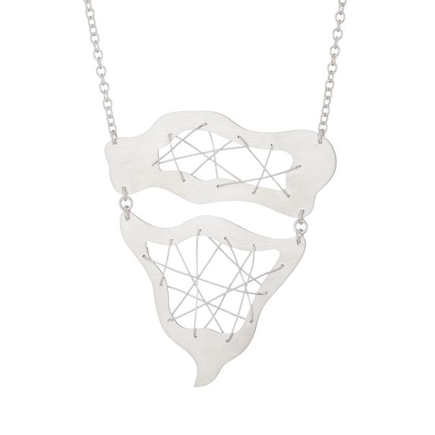 """""""Free Flowing"""" Sterling Silver Necklace"""