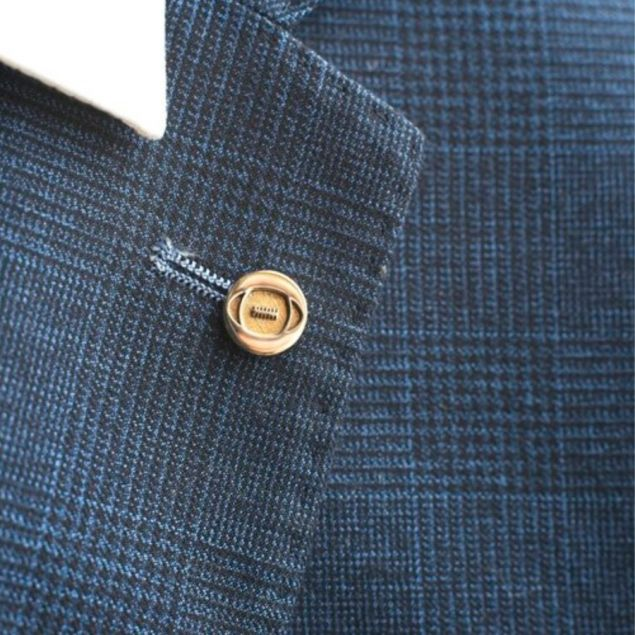 Brass Rugby Lapel Pin