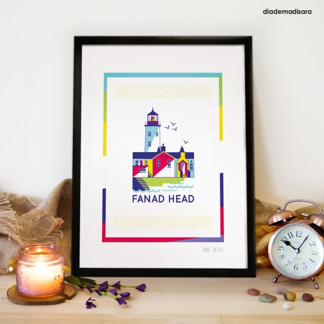Fanad Head Lighthouse A4 Signed Print