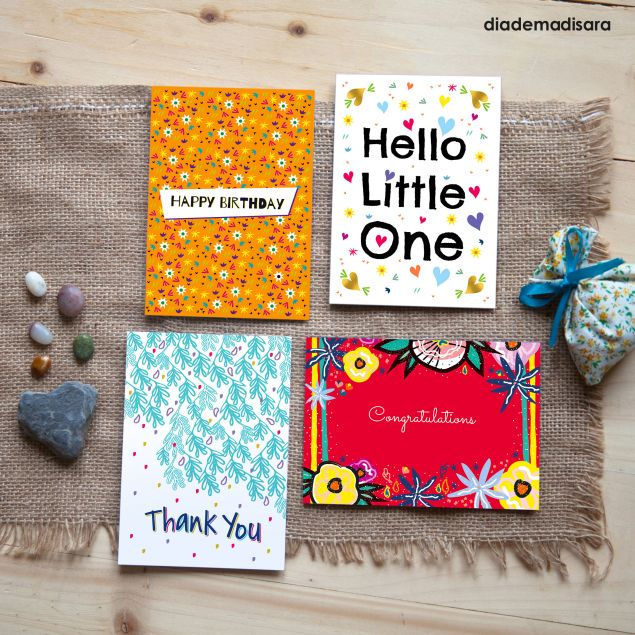 Mixed Selection of 4 Irish Greeting Cards