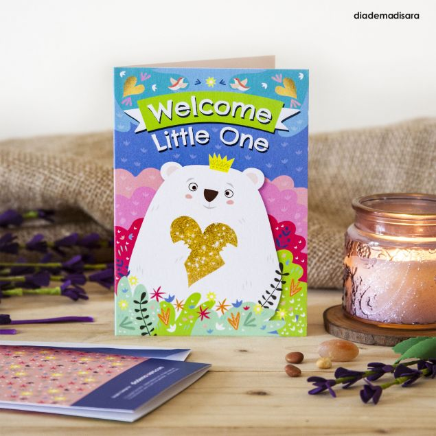 Welcome Little One New Baby Greeting Card