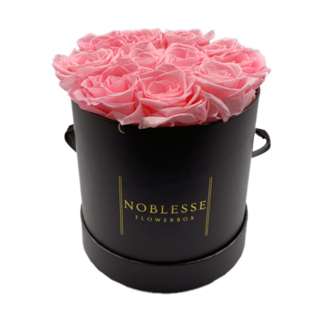 Year Long Fresh Classic Light Pink Roses - Small Flower Box