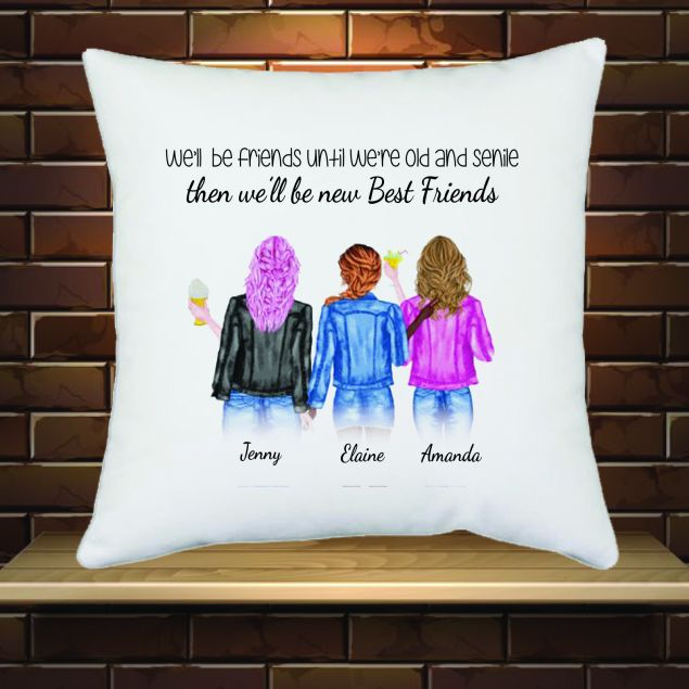 Personalised Best Friends Cushion