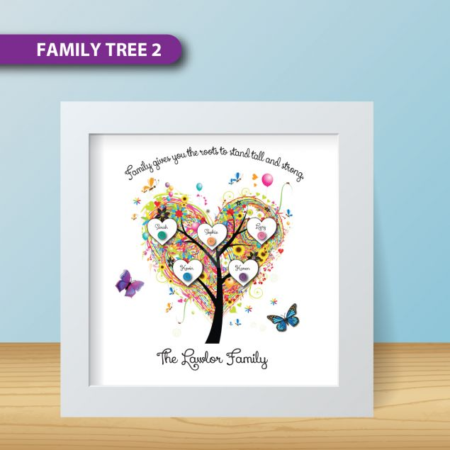 Personalised Family Tree Button Frame with space for all the names