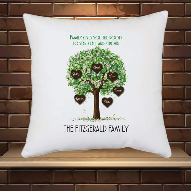 Personalised Family Tree Cushion with Names