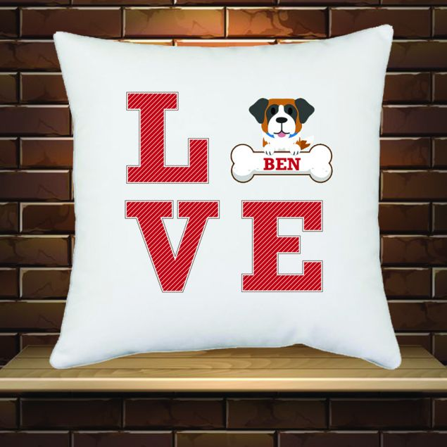 Personalised Love Dogs Cushion