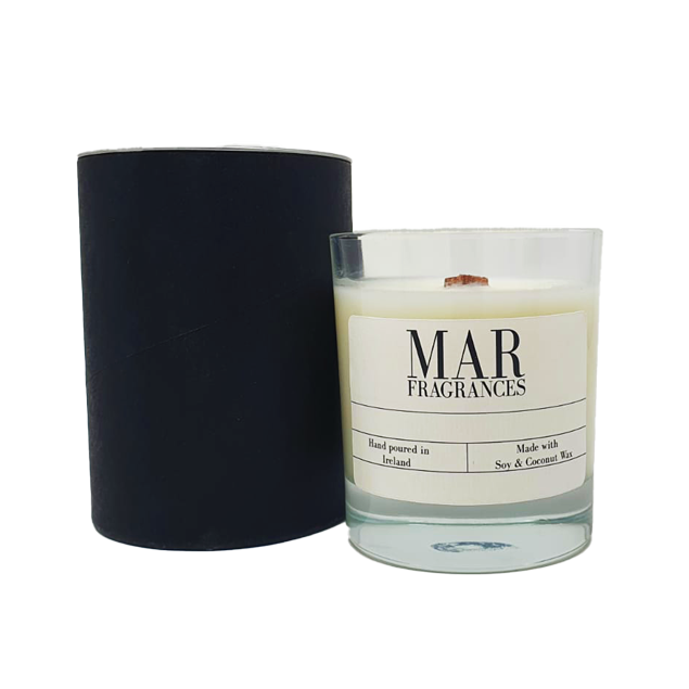 Black Amber and Lavender Scented Candle