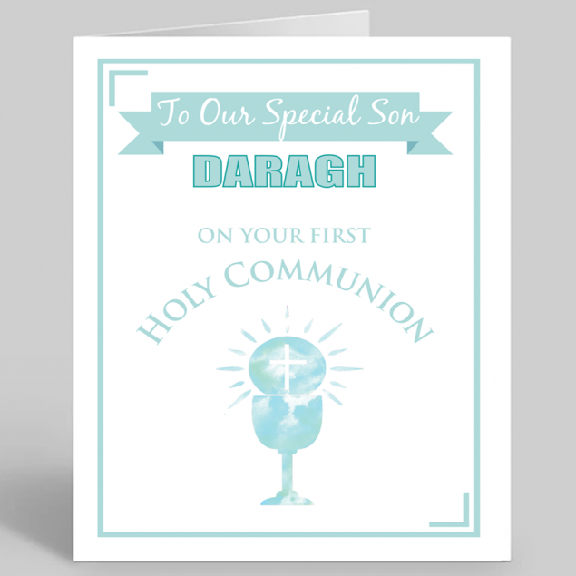 Personalised Communion and Confirmation Card