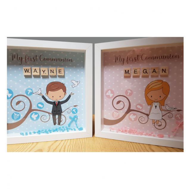 Personalised First Holy Communion Frame for a Boy or a Girl