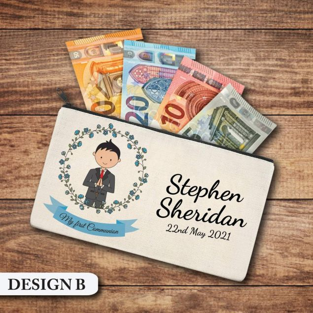 Personalised First Holy Communion Money Wallet Gift