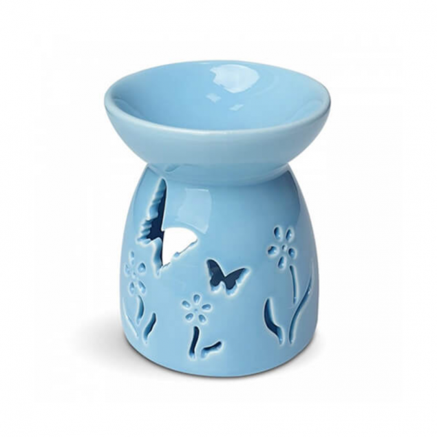 Blue Butterfly Fragrance Burner and Candle Gift Set