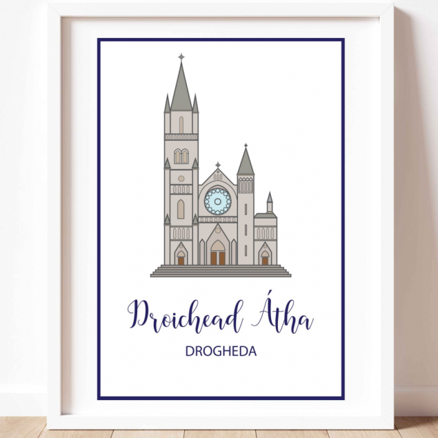 Colourful A3 Print Art of St Peters Church in Drogheda