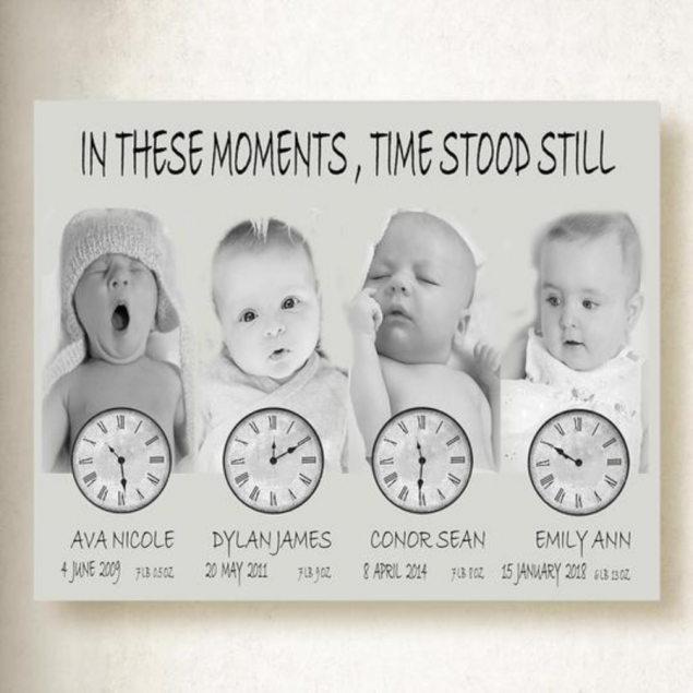 Personalised Family Baby Photos On Canvas