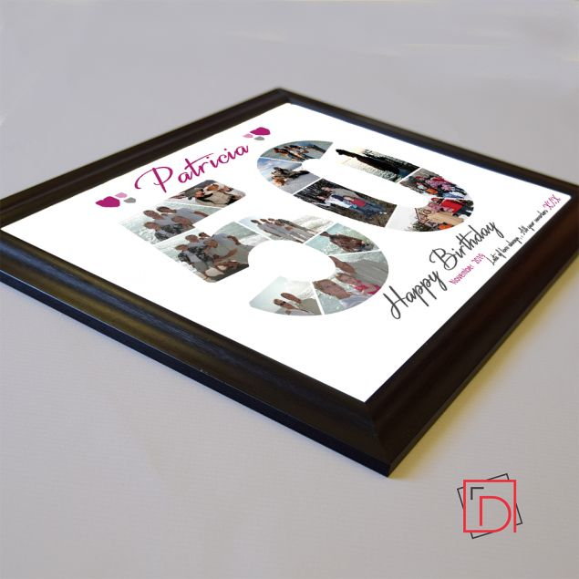 Personalised 50th Birthday Framed Photo Collage