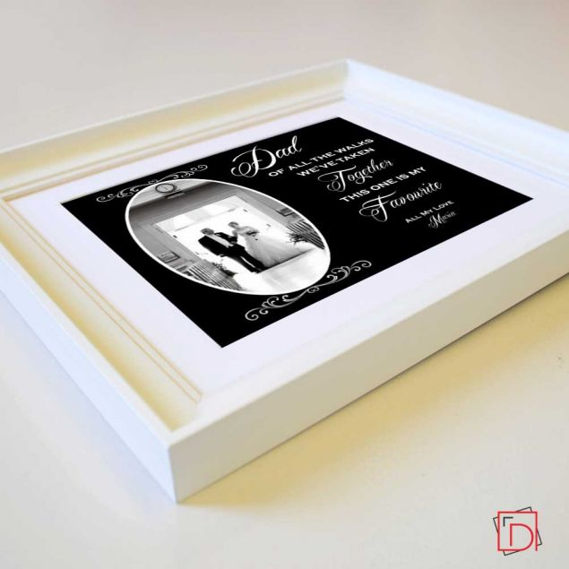 Personalised Dad My Favourite Walk Framed Gift