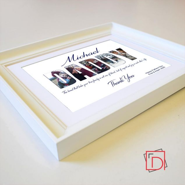 Personalised Daddy Lettering Framed Gift