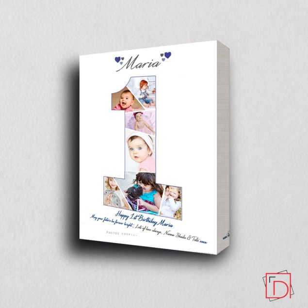Personalised First Moments Baby Birthday Photo Collage
