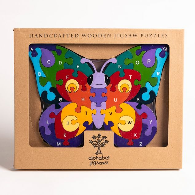 Childrens Butterfly Educational A to Z Alphabet Jigsaw Puzzle