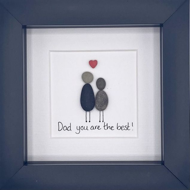 Dad You Are The Best Personalised Pebble Art Gift