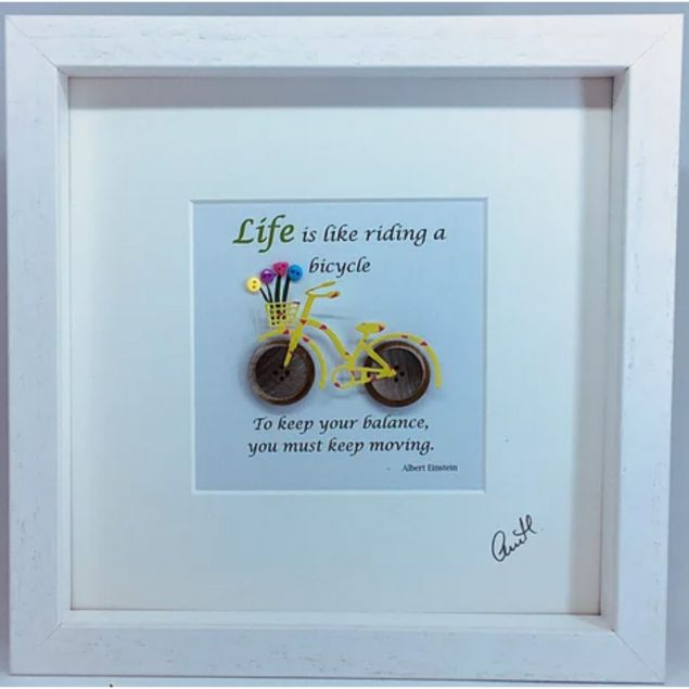 Life is like a Bicycle Quote Frame