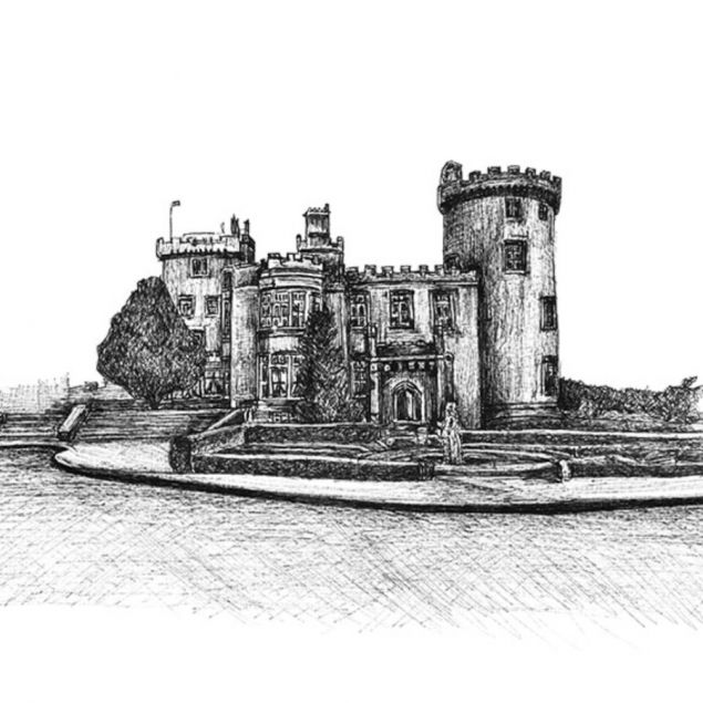 Limited Edition Fine Art Print of Dromoland Castle in County Clare