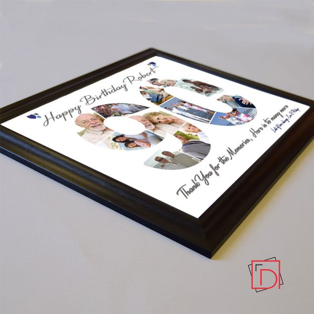 Personalised 90th Birthday Framed Photo Collage